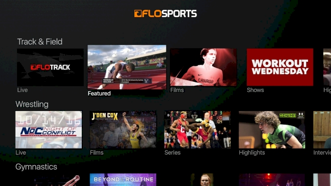 FloSports Now on Roku & Apple TV