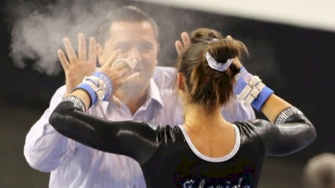 A chalky high five after Alaina Johnson's bar rout