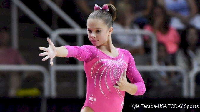 Ragan Smith floor Olympic Trials