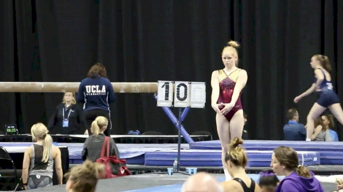 Denelle Pedrick Shows Big Yurchenko Double Fulls (Central Michigan) - 2017 NCAA Championships Training