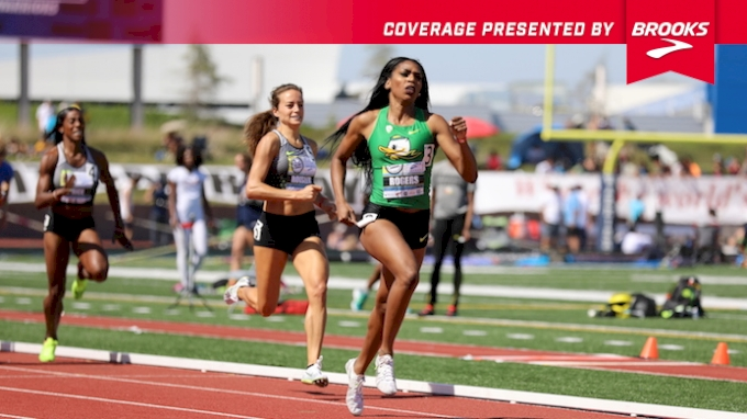 Women's 800m Invite, Heat 1 - Raevyn Rogers runs 1:59, new NCAA record
