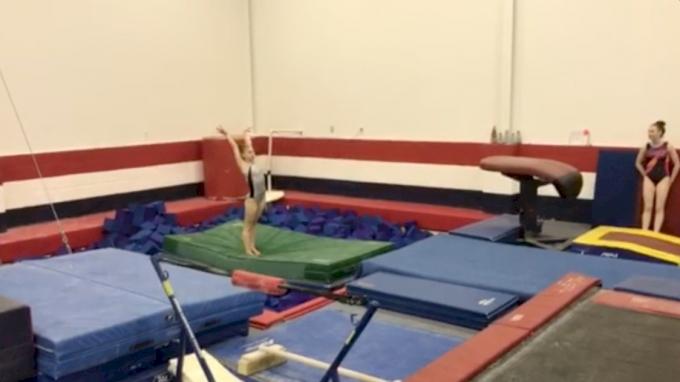 Natalie Wojcik Trains Big Floor Upgrade - Double Twisting Double Back