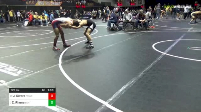 126 lbs Round Of 16 - Justin Rivera, FORT MYERS WC vs Cole Rhone, Benton