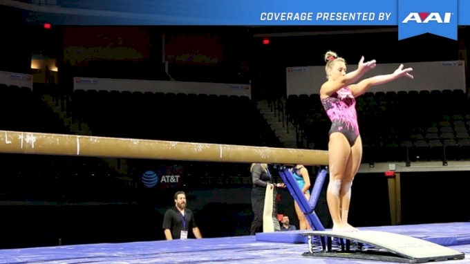 Emily Gaskins Shows AWESOME Beam Mount + Full Set - 2017 U.S. Classic Podium Training