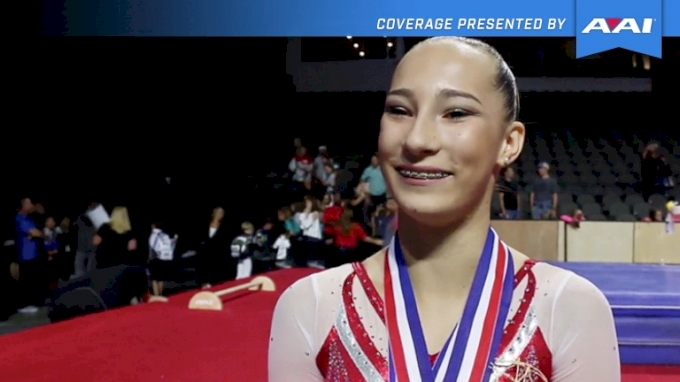 Alyona Shchennikova On The Moment She Found Out She Won, Back Tumbling, And Looking Ahead To Worlds