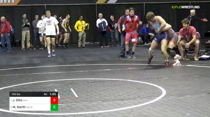 145 lbs Quarterfinal - Joshua Otto, Askren Wrestling Academy vs Michael North, Wadsworth Wrestling