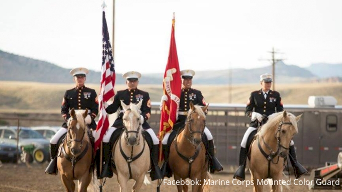 Marine Corps Mounted Color Guard