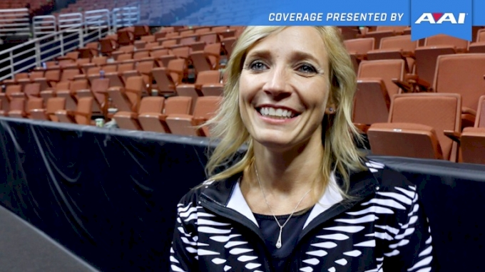 Kim Zmeskal On Ragan's New Floor Routine & Texas Dreams' Unique Leos - 2017 P&G Championships Women Day 2