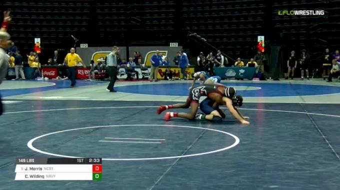 149 lbs Round of 16 - Jamal Morris, NC State vs Corey Wilding, Navy