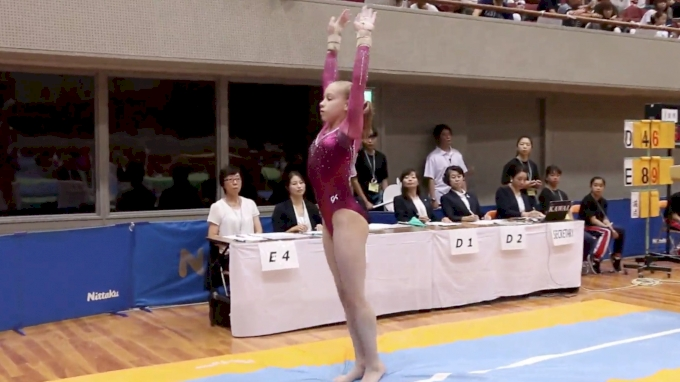 Angelina Simakova - Vault (14.433-1st), Russia - Event Finals, 2017 International Junior Japan