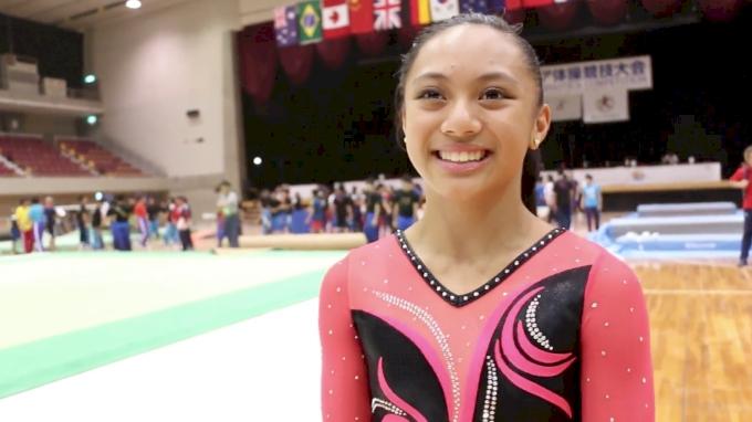 Emma Malabuyo Finishes Her Junior Elite Career With Gold - Event Finals, 2017 International Junior Japan