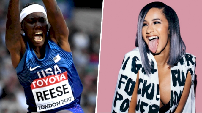 On The Run With Brittney Reese: Long Jump WR & Cardi B Twitter Beef