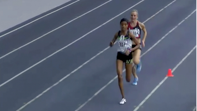 Women's 3k, Heat 4 - Hassan 8:34, Flanagan 8:43