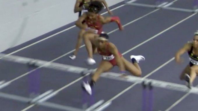 Women's 60m Hurdles, Round 2 Heat 2 - Dior Hall Goes Sub-8, Wins MPSF Title