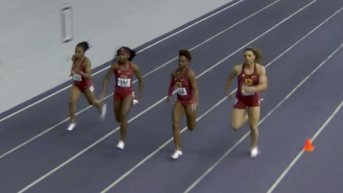 Women's 60m, Round 2 Heat 2 - USC Goes 1-2-3!
