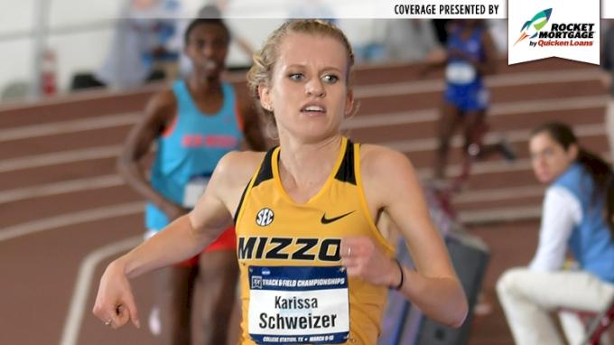 2018 NCAA Indoor Women's 5k - Karissa Schweizer Wins Again!