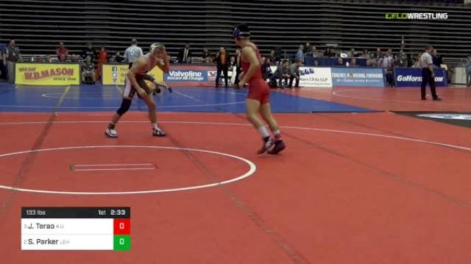 133 lbs Semifinal - Josh Terao, American vs Scott Parker, Lehigh