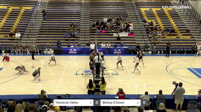 Temecula Valley vs Bishop O'Dowd - 2018 Girls California State Volleyball Championships, Division 1