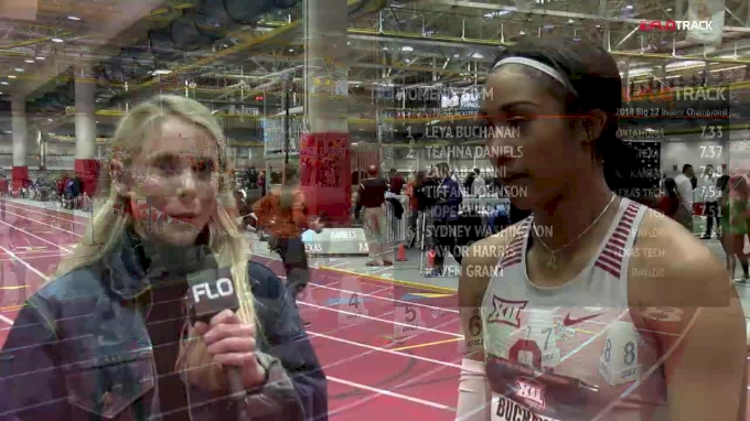 Oklahoma senior Leya Buchanan wins her first Big 12 title in 60m