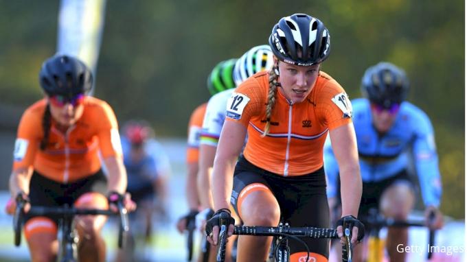 2018 UEC European Cyclocross Championships Elite Women Podium Presentation