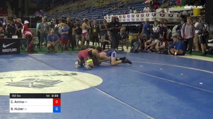 152 lbs Round Of 128 - Cameron Amine, Michigan vs Braydon Huber, Idaho
