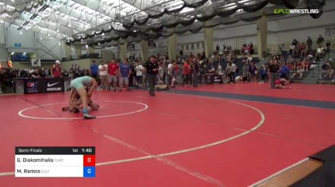 51 kg Semifinal - Greg Diakomihalis, FLWC vs Matthew Ramos, Colt Wrestling