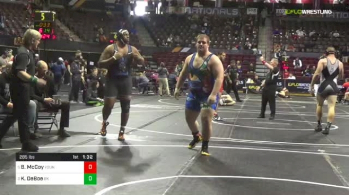 285 lbs Quarterfinal - Bishop McCoy, Young Guns Wrestling Club vs Kawaun DeBoe, Bad Karma