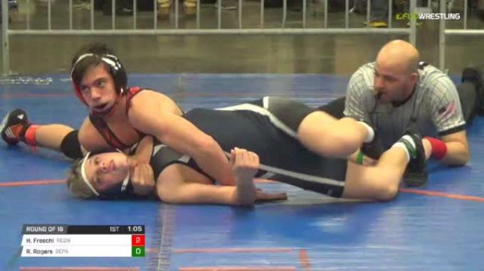 126 lbs Round of 16 - Hunter Freschi, Rednose MS vs Ryan Rogers, Sepa Ms
