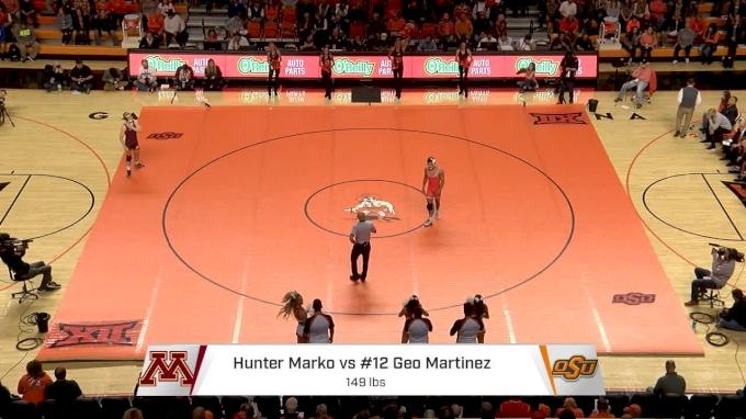 149lbs- Geo Martinez, Oklahoma State vs Hunter Marko, Minnesota