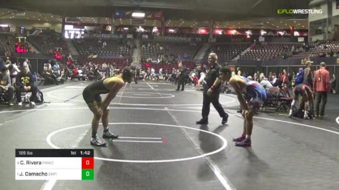 126 lbs Quarterfinal - Christopher Rivera, FORT MYERS WC vs Jakob Camacho, Empire Wrestling Academy