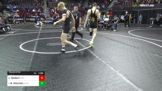120 lbs Round Of 64 - Lucas Seibert, Unattached vs Brock Whorton, Team West Virginia