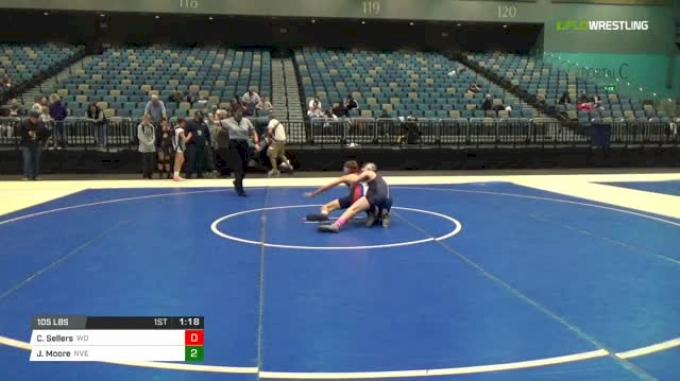 105 lbs Rr rnd 5 - Colton Sellers, Whizzer'n Dawgs vs Jarrett Moore, Nevada Elite
