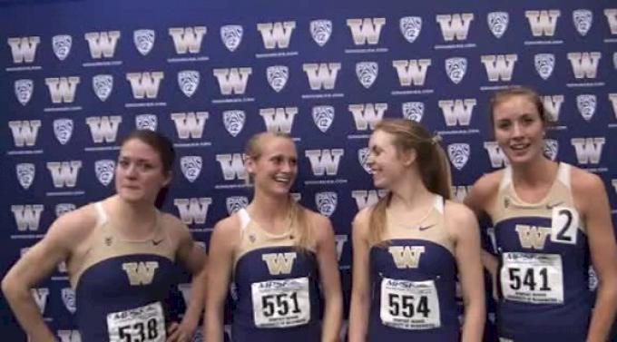 Washington women after 10:55 NCAA leader at 2012 MPSF Indoor Championships