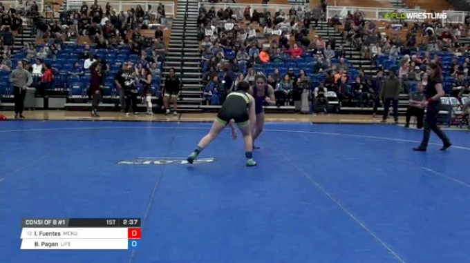 143 lbs Consi of 8 #1 - Isabella Fuentes, McKendree University vs Brooke Pagan, Life University W