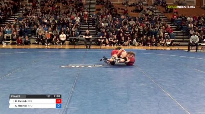 123 lbs Final - Dominique Parrish, Simon Fraser University vs Alex Hedrick, Simon Fraser University