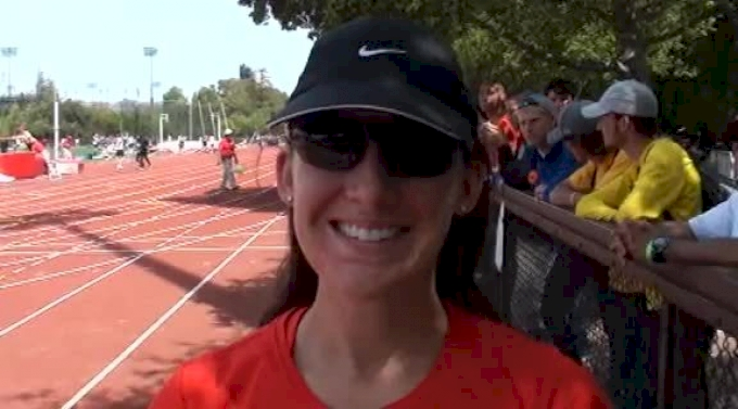 Shannon Rowbury after the 800 at the 2012 Stanford Invitational