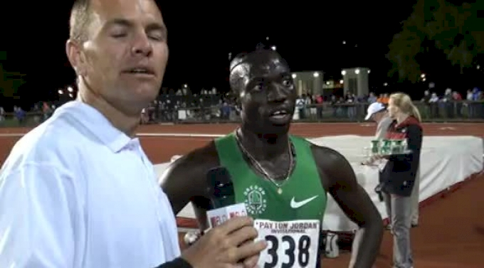 Lopez Lomong after dramatic 5k mishap at 2012 Payton Jordan Invite