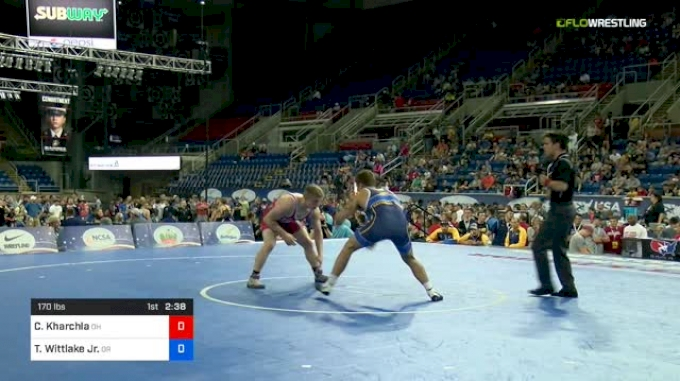 170 lbs Semifinal - Carson Kharchla, Ohio vs Travis Wittlake Jr., Oregon