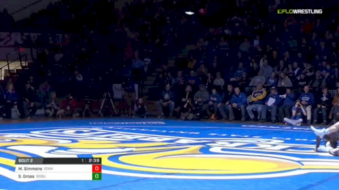 133 lbs Markus Simmons , Iowa State vs Seth Gross, SDSU