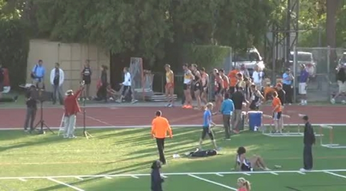 M 3k steeple H02 (Donn Cabral kicks by Jager Fall to set Collegiate AR, 2012 Oxy HP)