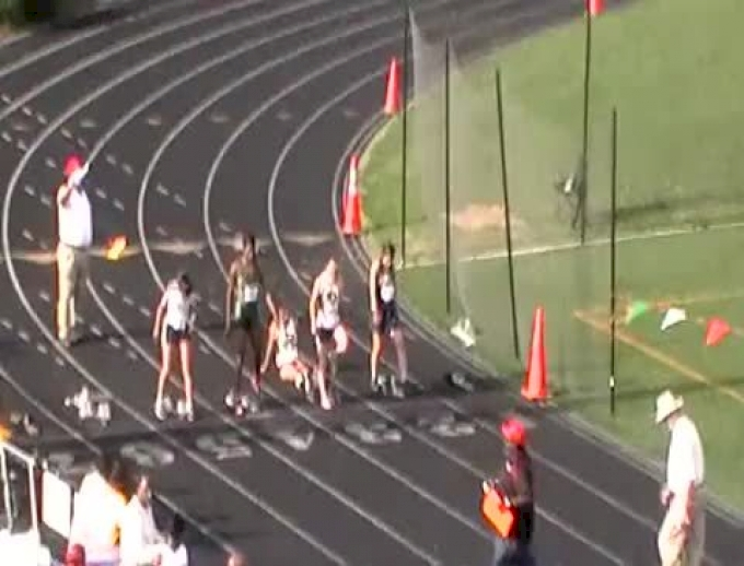 WCAC Girls 100m HH Heat
