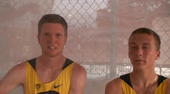 Trevor Dunbar and Parker Stinson Oregon duo going to Des Moines in 5k after 2012 NCAA West Prelim