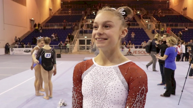 Grace McCallum On First International Competition - 2018 Jesolo