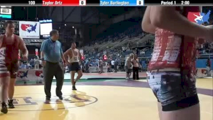 100 lbs round-2 Taylor Ortz Pennsylvania vs. Tyler Burlington Illinois