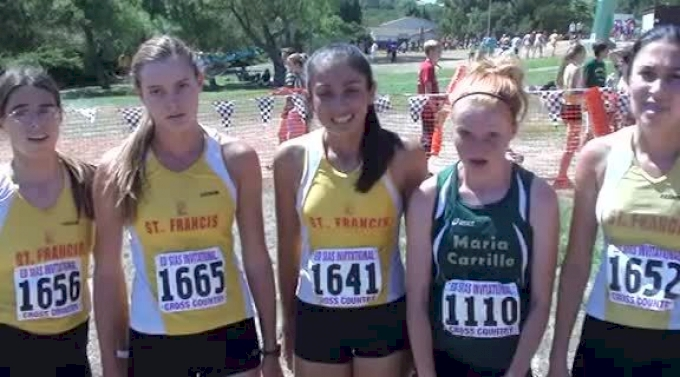Top finishers after Girl's fs JV unlimited race at 2012 Ed Sias XC Invite