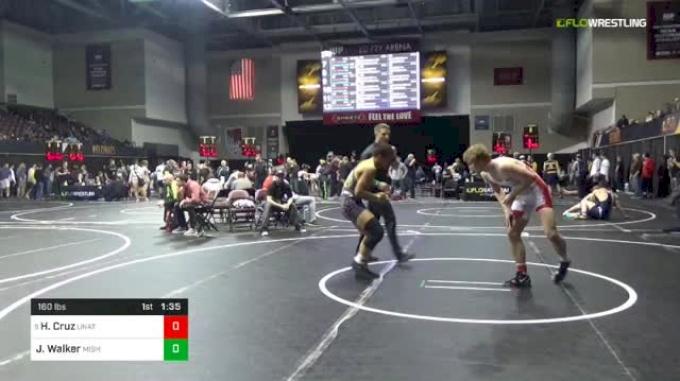 160 lbs Round Of 16 - Hunter Cruz, Unattached vs Joseph Walker, Mishawaka
