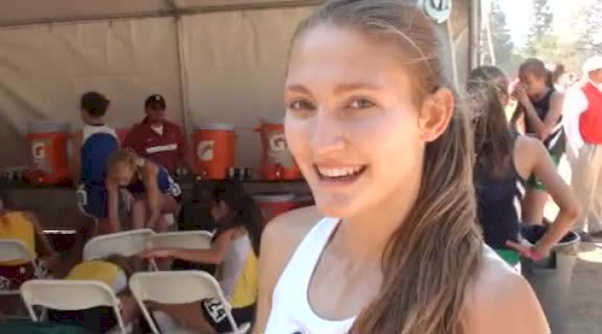 Girl's seeded champ Amy-Eloise Neale (Glacier Peak) after victory at 2012 Stanford Invitational