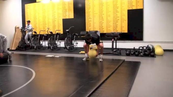 Tony Ramos Cory Clark med ball workout