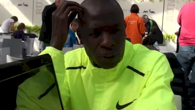 Moses Mosop before first ever NYC Marathon