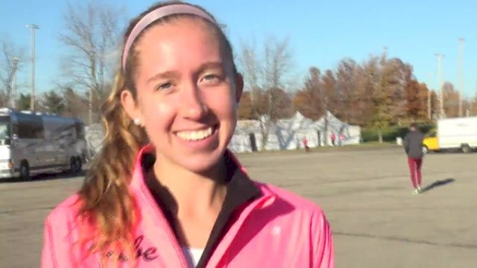 Emily Stites for William & Mary 26th place at 2012 NCAA XC Champs